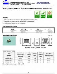 MM3225 series wire wound chip common mode choke