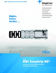 BNC-EasyGrip connectors for HDTV