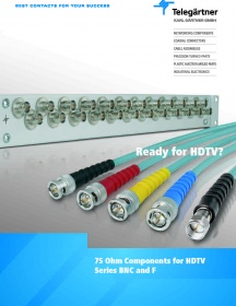 Components for HDTV. BNC 75 Ohm